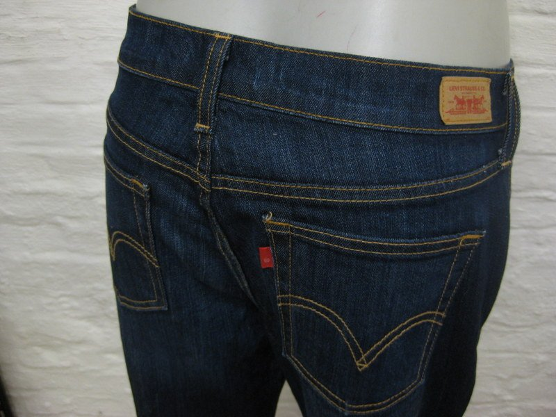 levis 505 staight leg coole damen jeans hose 8s c w32 l30 blau denim m stretch ebay. Black Bedroom Furniture Sets. Home Design Ideas