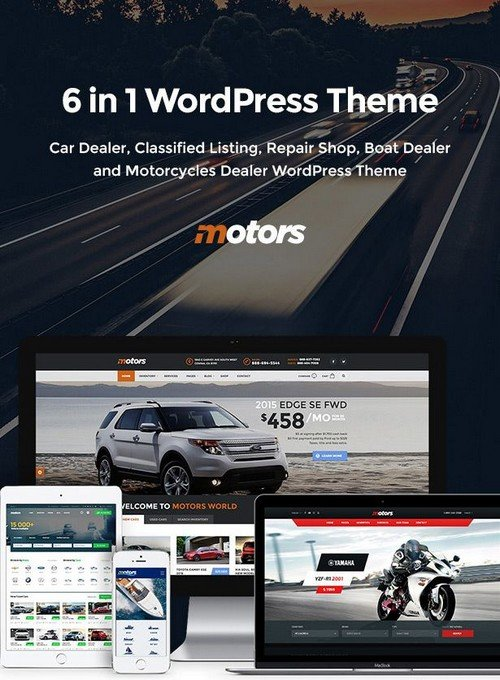 Motors v3.6.3 Full/rip  WordPress /szablon