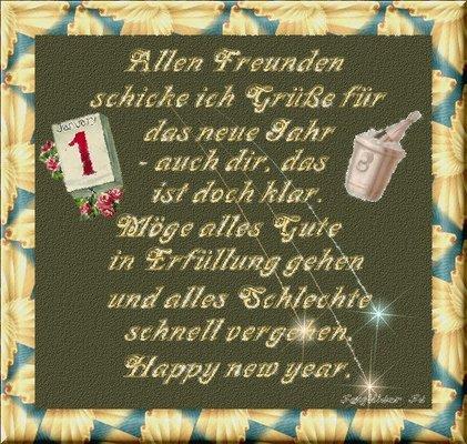 wünsche allen ein frohes neues Jahr - lustich.de