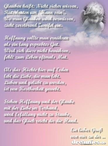 Trauerkarte Kind Engel Himmel Im Herzen