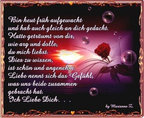 Guten Morgen Ich Liebe Dich Sprüche Süße Romantische Guten